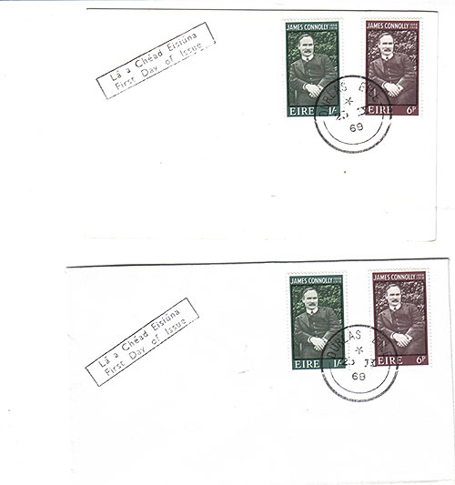 Ireland 1968 FDC James Connolly plain covers