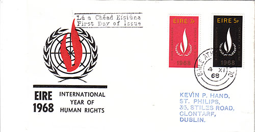 Ireland 1968 FDC Human Rights UN