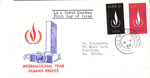 Ireland 1968 FDC United Nations Building