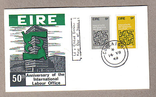 Ireland 1969 Fdc Intl. Labour Orgn Cover (philart)