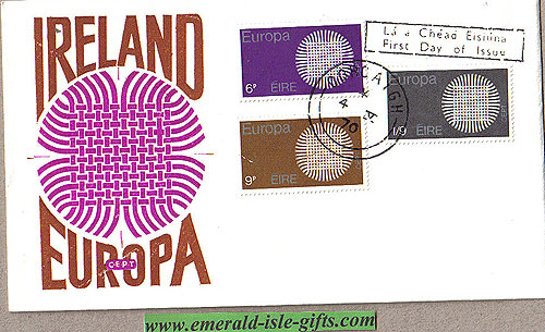 Ireland 1970 Fdc Europa Illustrated Cover Le Brocquy
