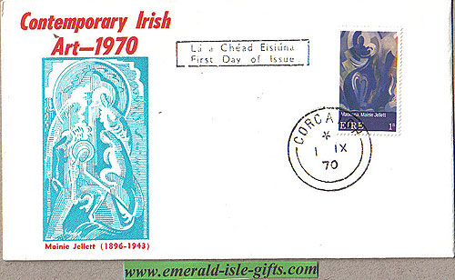 Ireland 1970 Fdc Art: Mainie Jellett First Day (blue)