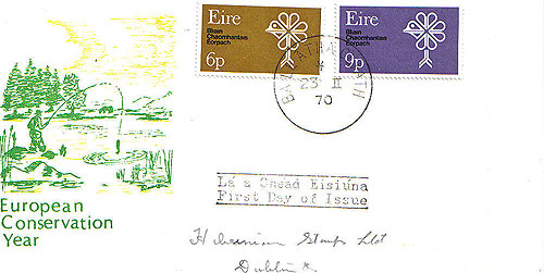Ireland 1970 Fdc Conservation Year Illus Cover (fishing)14