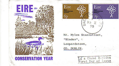 Ireland 1970 Fdc Conservation Year Illus Cover 15