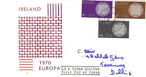 Ireland 1970 Fdc Europa Illustrated Cover Le Brocquy28