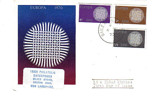Ireland 1970 Fdc Europa Illustrated Cover Le Brocquy29