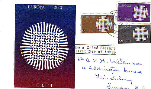 Ireland 1970 Fdc Europa Illustrated Cover Le Brocquy30