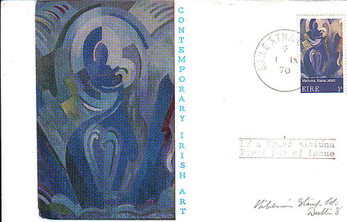 Ireland 1970 Fdc Art: Mainie Jellett First Day (blue)32
