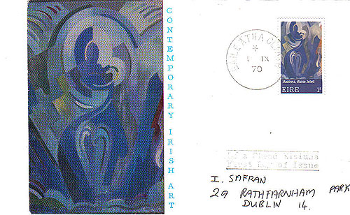 Ireland 1970 Fdc Europa Illustrated Cover Le Brocquy33