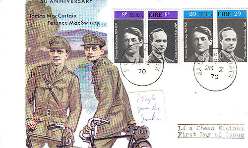 Ireland 1970 Fdc Maccurtain Macswiney Patriots (harp)34