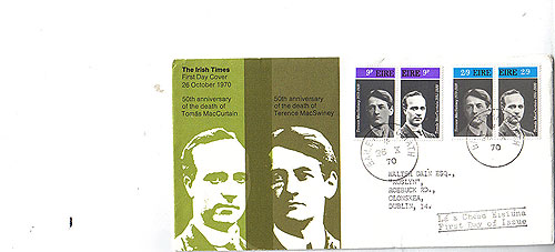 Ireland 1970 Fdc Maccurtain Macswiney Patriots (harp)35