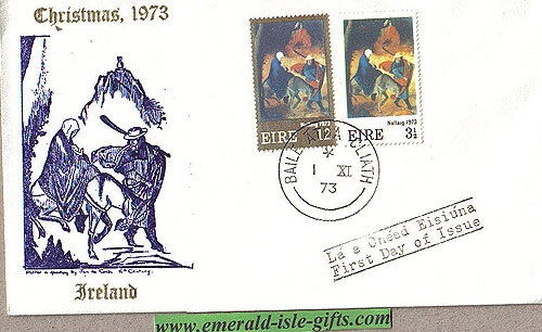 Ireland 1973 Christmas Illustrated First Day Cover