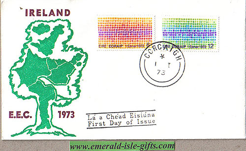 Ireland 1973 European Economic Comm Entry (europe Map)