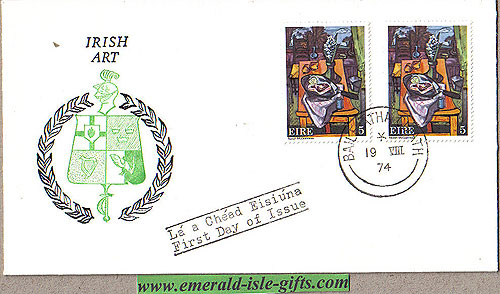 Ireland 1974 Fdc Art Norah Mcguinness: (four Provinces)