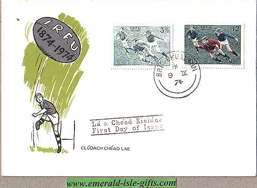 Ireland 1974 Fdc Irish Rugby Union Centenary (an Post)