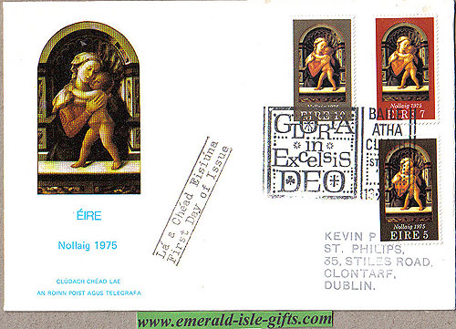 Ireland 1975 Fdc Christmas First Day Cover (an Post)