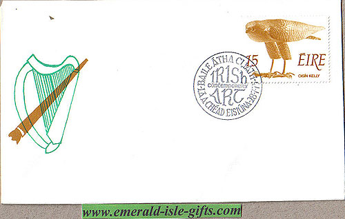 Ireland 1975 Fdc Art: Oisin Kelly (harp Symbol)