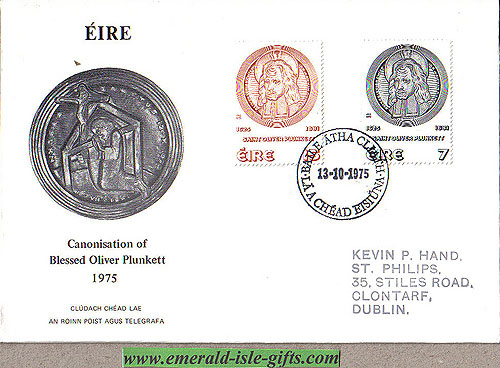 Ireland 1975 Fdc Oliver Plunkett First Day (an Post)