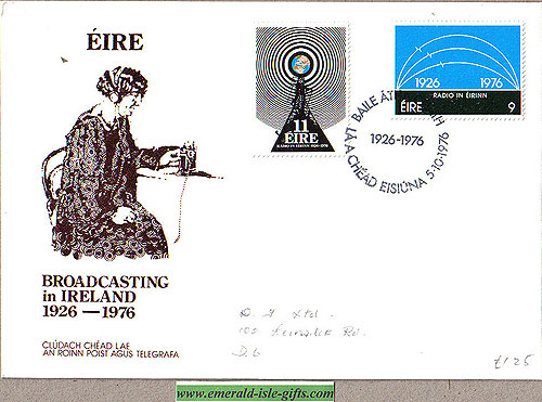 Ireland 1976 Fdc Radio Broadcasting Centenary (an Post)