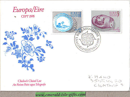 Ireland 1976 Fdc Europa: Delftware (an Post)