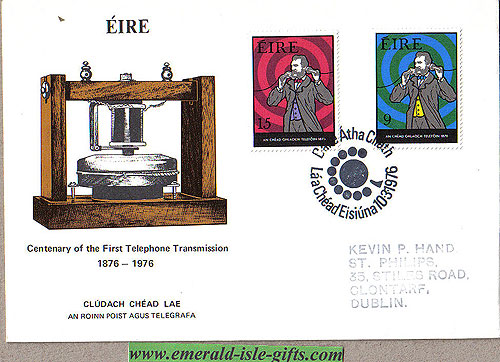 Ireland 1976 Fdc Telephone Centenary Fdc (an Post)