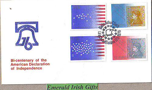 Ireland 1976 Fdc Us Independence Bi-centenary (bell)