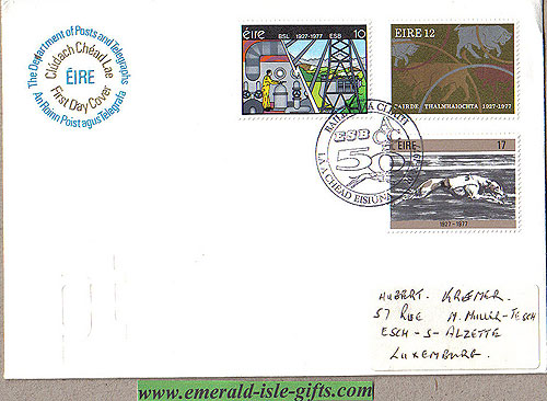 Ireland 1977 Fdc Esb, Greyhound, Acc Annivs. (an Post)