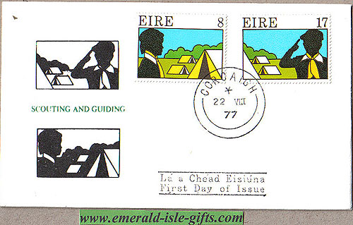 Ireland 1977 Fdc Scouting And Guiding (b/w Illus)