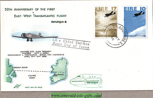 Ireland 1978 Fdc First Transatlantic Flight (hibernian)