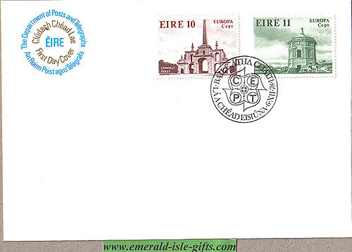 Ireland 1978 Fdc Europa: Architecture (an Post)