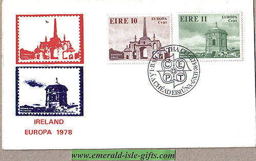Ireland 1978 Fdc Europa: Architecture (stamp Illus)