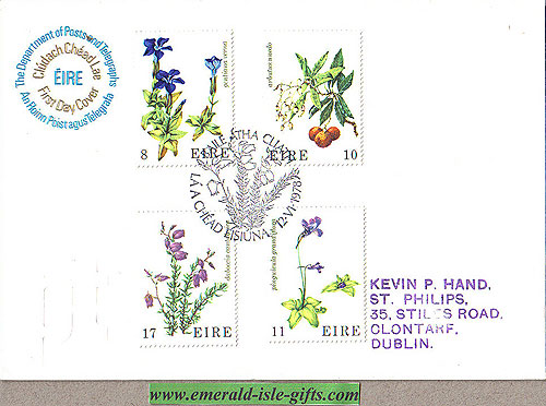 Ireland 1978 Fdc Wild Flowers (an Post)