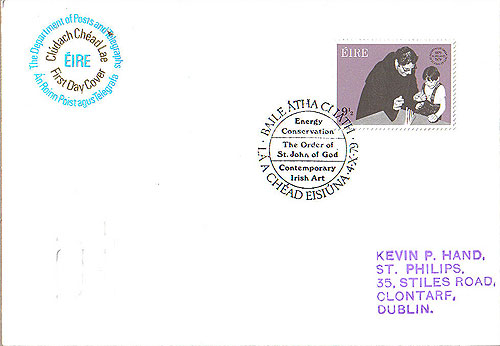 Ireland 1979 Fdc St John Of God First Day (an Post)