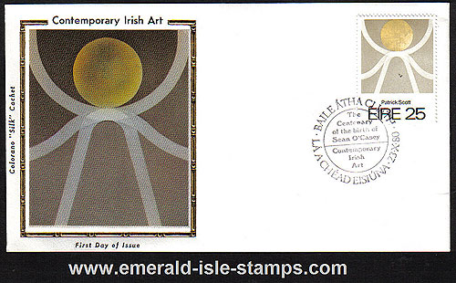 Ireland 1980 Fdc Patrick Scott Artist (colorano)