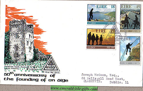 Ireland 1981 Fdc Youth Hostelling, An Oige (hibernian)