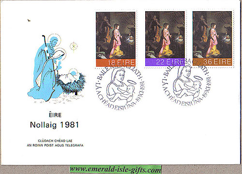 Ireland 1981 Fdc Christmas First Day Cover (an Post)