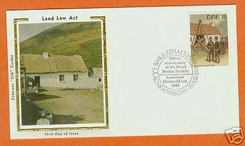 Ireland 1981 Fdc Land Law Act Silk Cachet (colorano)