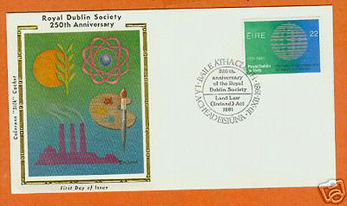 Ireland 1981 Fdc Royal Dublin Society Silk (colorano)