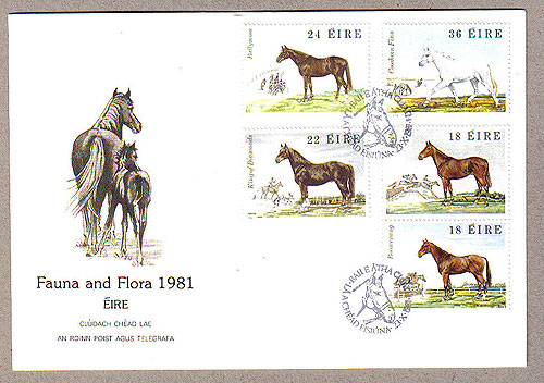 Ireland 1981 Fdc Famous Irish Horses (an Post)