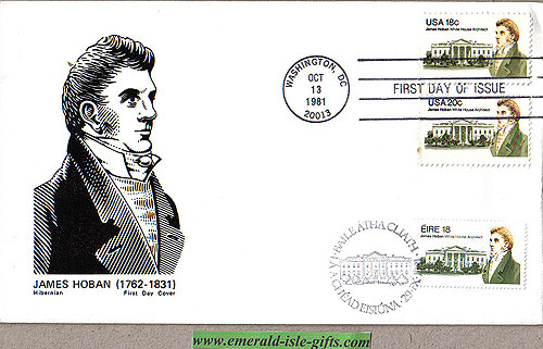 Ireland 1981 Fdc James Hoban White House (joint