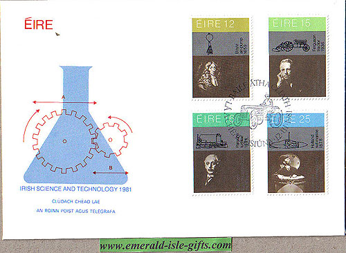 Ireland 1981 Fdc Science & Technology (an Post)