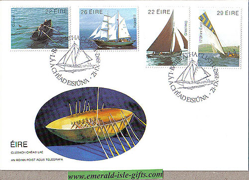 Ireland 1982 Fdc Irish Boats First Day Cover (an Post)