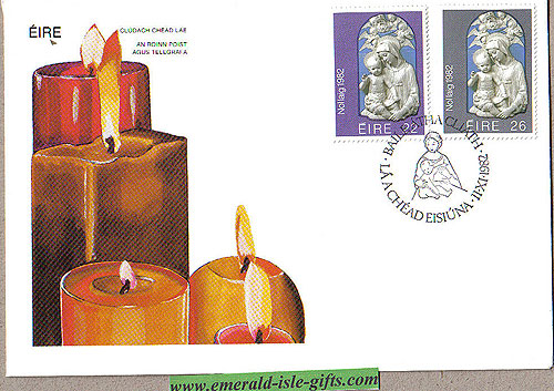 Ireland 1982 Fdc Christmas First Day Cover (an Post)