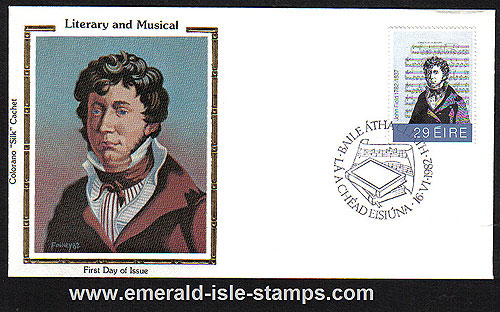 Ireland 1982 Fdc John Field Colorano Silk Cachet
