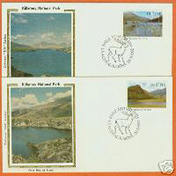 Ireland 1982 Fdc Killarney Lakes Colorano Silk Cachet