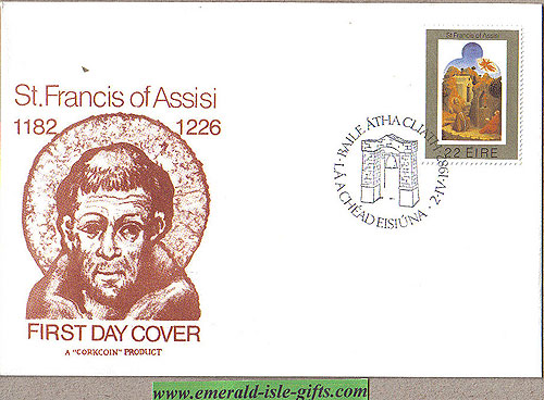 Ireland 1982 Fdc St Francis Of Assisi (cork Coins)