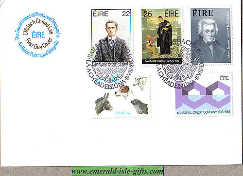 Ireland 1983 Fdc Anniversaries First Day (an Post)