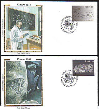 Ireland 1983 Fdc Europa Louis Le Brocquy Colorano Set