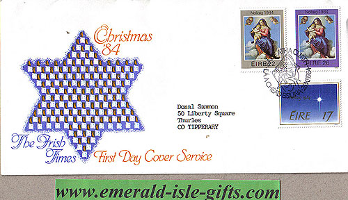 Ireland 1984 Fdc Christmas First Day Cver (irish Times)