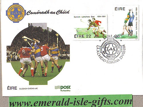 Ireland 1984 Fdc Gaa Centenary First Day (an Post)
